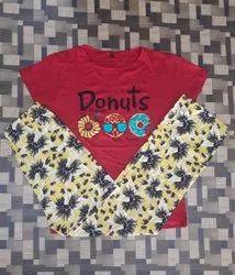 Girls Cotton Pyjama Set