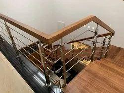 SSM63 Stainless Steel Wooden Stair Railing