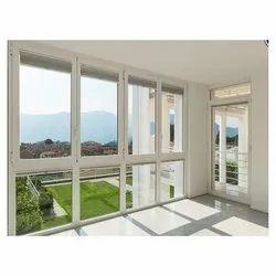 White Sliding UPVC Balcony Covering, For Home, 6 Mm