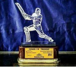 Cricket Acrylic Trophy