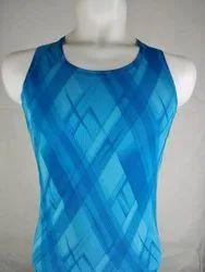 Polyester Sleev Less Mens Running Athletic printed sandow