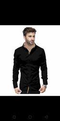 Rayon Plain The Tajkla Black formal men's shirt, Handwash