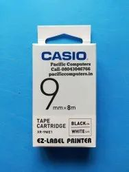 CASIO XR-9WE Tape 9mm Black on White