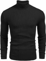 Black Men High Neck Sweaters