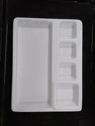 Acrylic 6 Compartment Thali