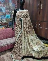 Linen And Silk Saree