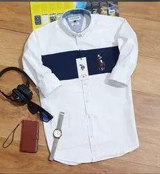 Silk Collar Neck Mens Shirt