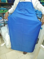 Blue Plain Apron Plastic, For Safety & Protection, Size: Small