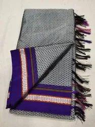 Border Khan Saree, 6 m (with blouse piece)