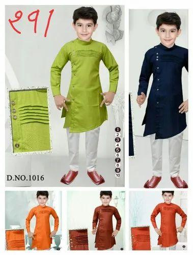 Cotton Wedding Wear Kurta Payjama Size 1 10 B T C Garments Id 22715192373