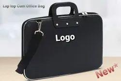 Black Nylone Fabric Office Cum Laptop Bag