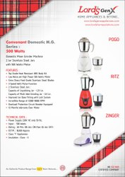 Mixer Grinder 500 Watts, For Wet & Dry Grinding