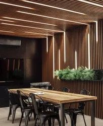 Wood Polymer Composite Fluted Louvre Wall Panel