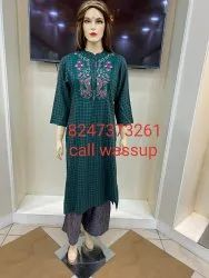 Cotton Formal Wear Koti kurti, Wash Care: Dry clean