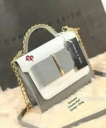 Pu Leather Adjustable Charles & Keith Sling Bag, For Casual Wear, Size: H-7inch W-9inch
