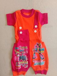 Orange and pink Girl & Boy Kids Baba Suit