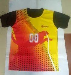 Printed Polyester Kabaddi T Shirt
