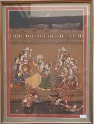 Radha Krishna Ras painting