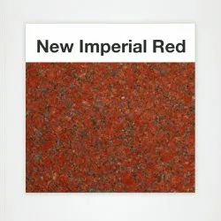 Polished Imperial Red Granite Slab, Thickness: 20 mm