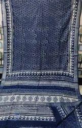 Linen Hand Block Printed Sarees