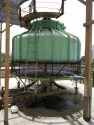 Fiberglass Reinforced Polyester Counter Flow Bottle Shaped Cooling Tower, Round, Induced Draft