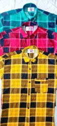Men 3COLOR Cotton check Shirt