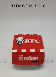 Paper Board Disposable Burger Box, For Pack Burgers, Size: Standard