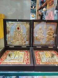 Pooja Items Golden Ganesh Yantra, Size: 4*5