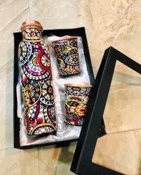 Brown Copper bottle Gift Set