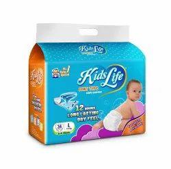 Cotton KIDS LIFE BABY DIAPERS Size L-34 PCS