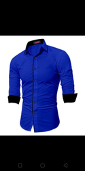 Blue Collar Neck The Tajkla Rayon men's formal shirt, Handwash