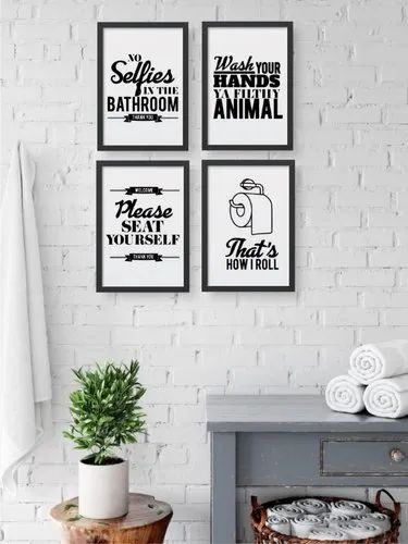 Wooden Bathroom Decor Printed Frames For Decoration Rs 149 Piece Id 22709268462