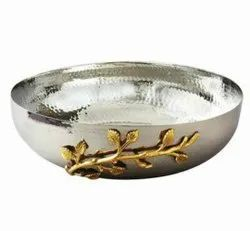 Round Metal Fruit Bowl, For Hotel