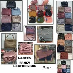 Leather Adjustable Ladies Fancy Hand Bags, For Office