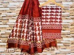 Chanderi Silk Ladies Fabric
