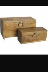 Wooen Colour Rectangle Wood Box, Size(LXWXH)(Inches): 12x8x4, Size: 12*8*4