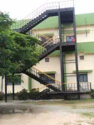 Vertical Elevation Mild Steel Staircase