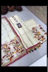 silk Unstitched Punjabi Suits, Machine wash