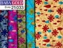 "Cotton 44-45"" Baba Gold Fabric, For Garments, Gsm: 250"