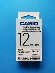 CASIO XR-12WE1 12mm Label Printer Tape Black On White