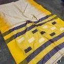 Khadi Cotton Thread Work Sarees