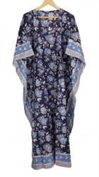 Block Printed Cotton Beach Dress Kaftan