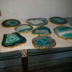 Decorative Agate Coaster