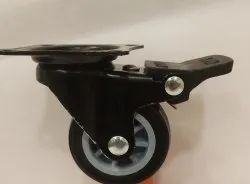 Black PU Caster Wheel