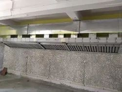 Electric Rectangular Stainless Steel Exhaust Duct, For Commercial