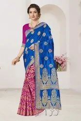 Ligalz Half and Half Banarasi silk