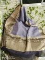 Banarasi Silk Linen Sarees With Contrast Border