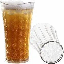 Plastic Transparent Unbreakable PET Glass for Hotel, Restaurant, Capacity: 320 mL and 200 mL