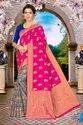 Ligalz Half and Half Banarasi silk