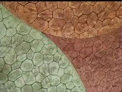 Random Stone Stamp Concrete Flooring Service, Thickness: 75-100 Mm